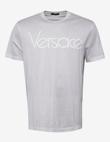 Versace White Vintage Logo Embroidery T-Shirt
