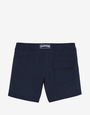 Vilebrequin Navy Blue Solid Superflex Merise Swim Shorts