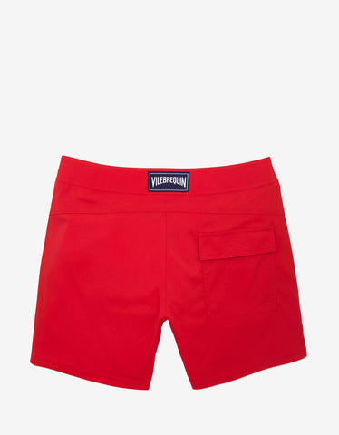 Vilebrequin Poppy Red Solid Superflex Merise Swim Shorts