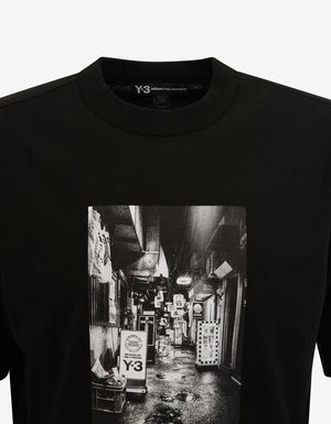 Black Alleyway Graphic Print T-Shirt