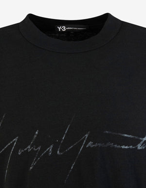 Black Distressed Logo Print T-Shirt