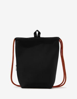 Black Drawstring Beach Bag