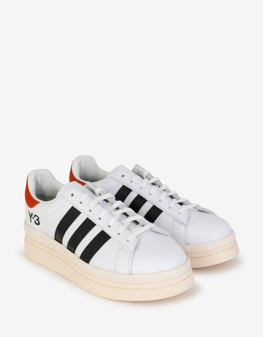 Emilien White Neoprene Trainers