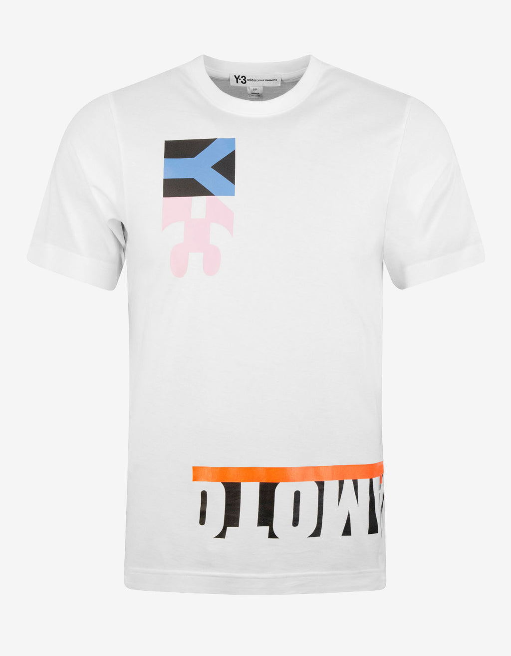 White Multi-Block Graphic T-Shirt