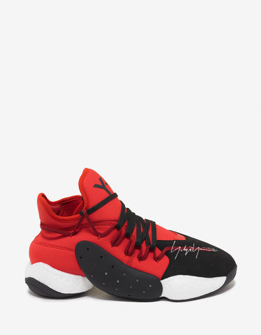 Y-3 BYW B-Ball Red High Top Trainers