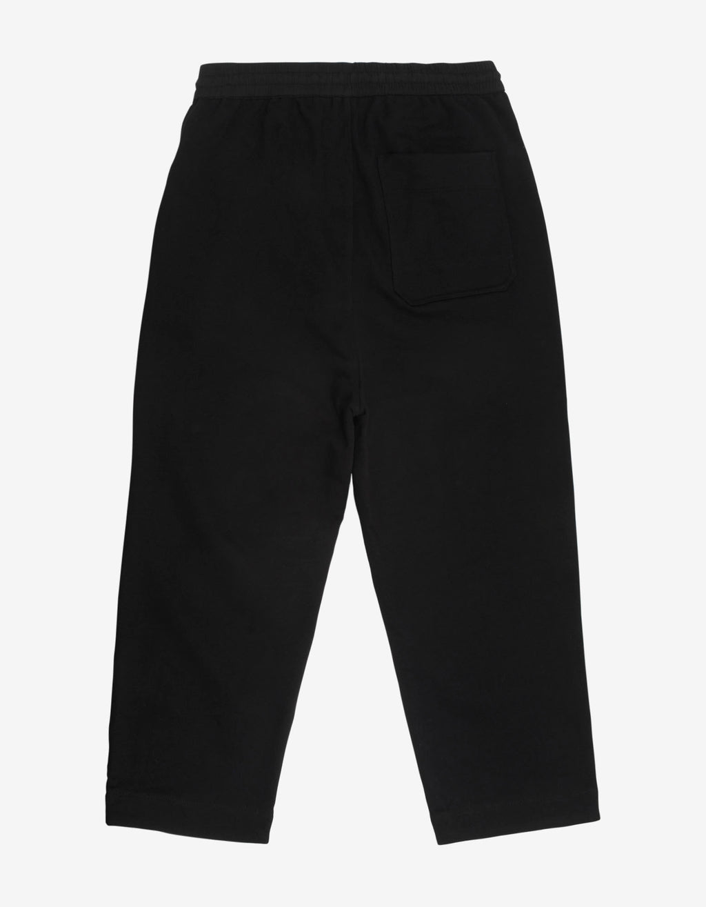 Black Classic Logo Cropped Sweat Pants