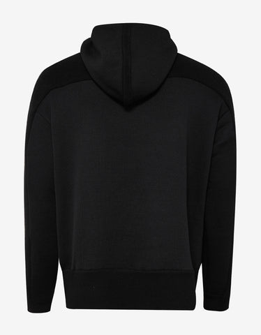 Y-3 Black Knitted Stacked Logo Hoodie