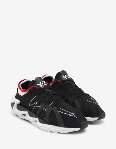 Black Speed Trainers with White & Black Sole