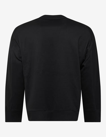 Y-3 Black Stacked Logo Print Sweatshirt