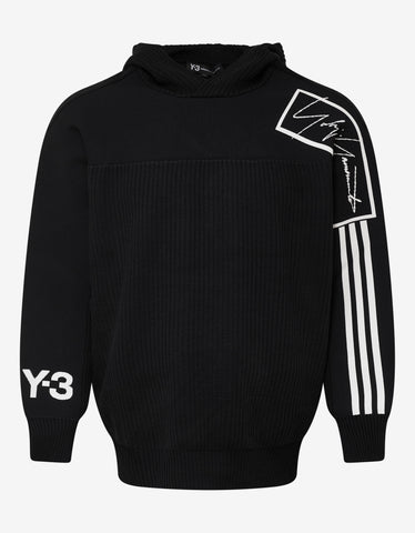 Y-3 Black Technical Knit Hoodie