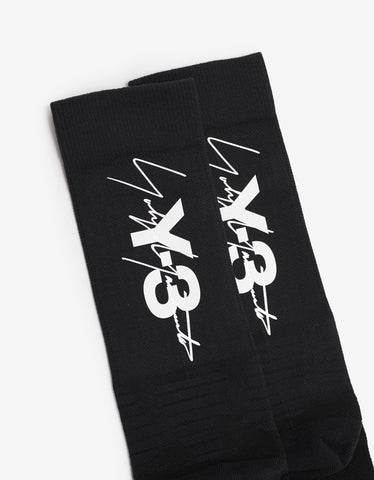 Y-3 Black Tube Socks