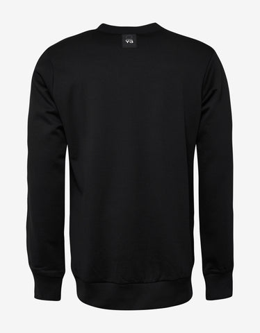 Y-3 Black Patchwork Sweatshirt