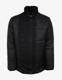 Black Patchwork Down Jacket