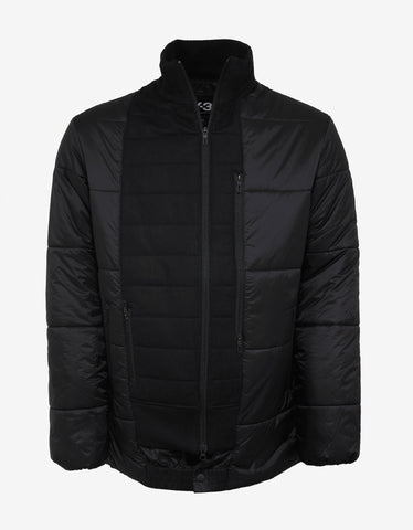 Y-3 Black Patchwork Down Jacket