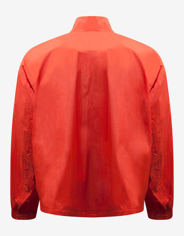 Orange Packable Half-Zip Shell Track Jacket