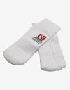 White Logo Embroidery Socks