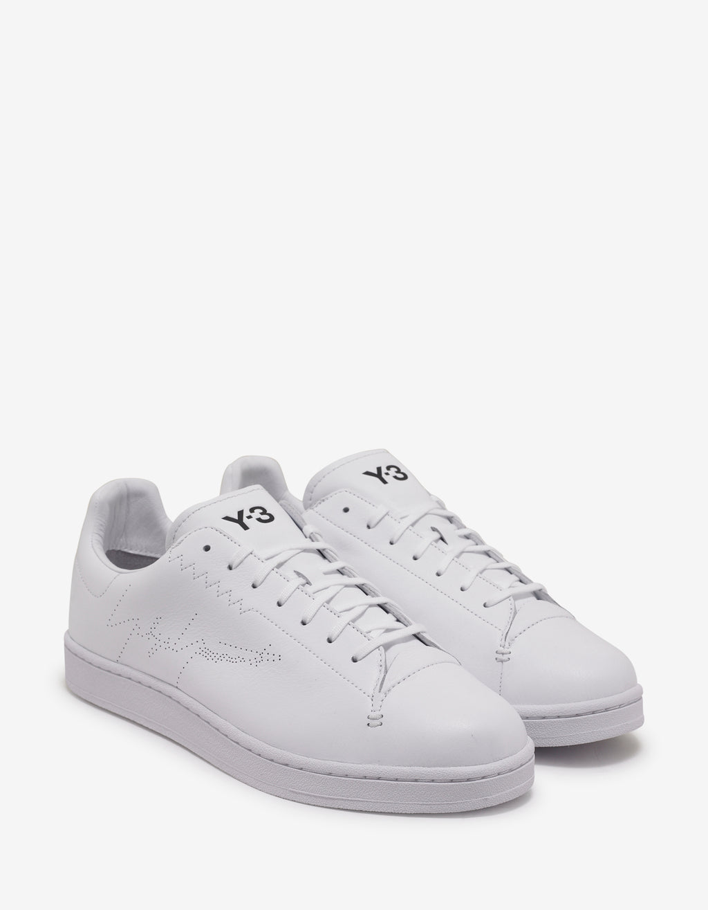 White Yohji Court Trainers