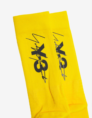 Y-3 Yellow Tube Socks