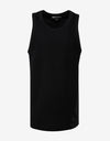Black Sateen Tank Top