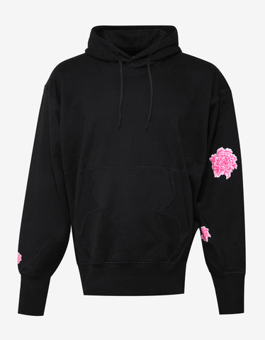 Black Botan Flower Hooded Sweatshirt