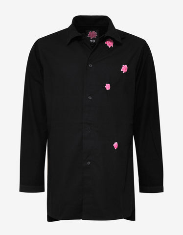 Black Botan Flower Shirt
