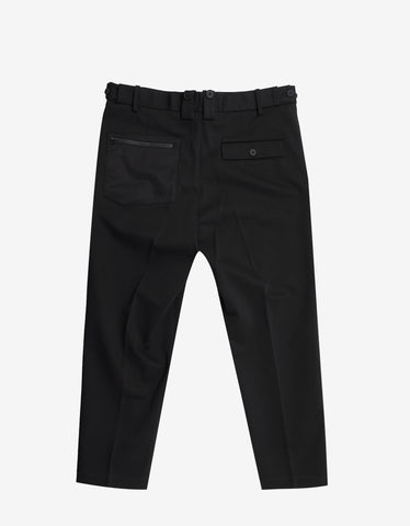 Black Cropped Slim Pants