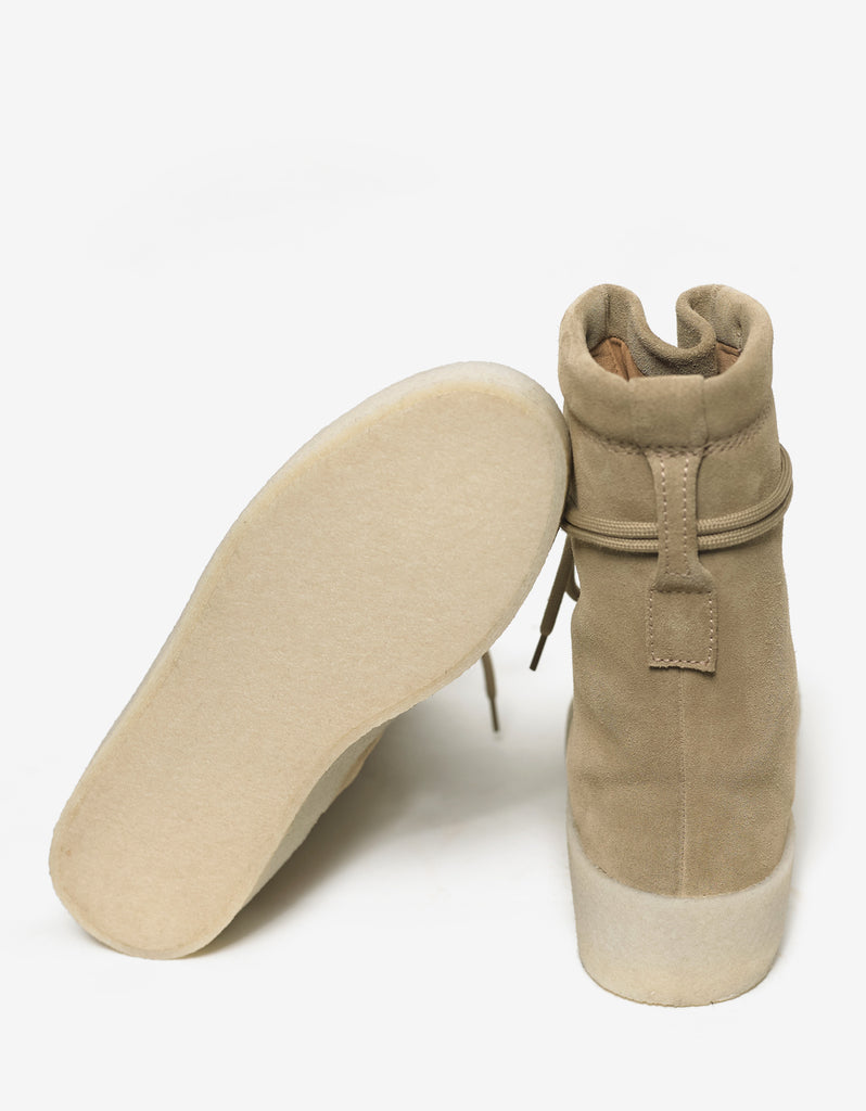 Beige Suede Crepe Sole Boots