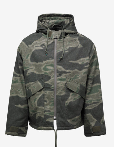 Yeezy CPN 9 Green Camouflage Print Anorak