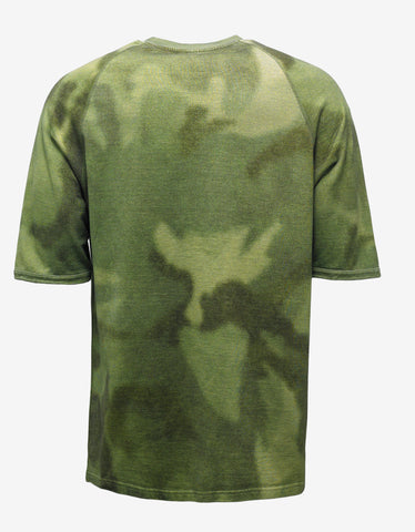 Yeezy CPN 3 Green Camouflage Print T-Shirt