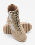 Rock Beige Nylon & Suede Military Boots