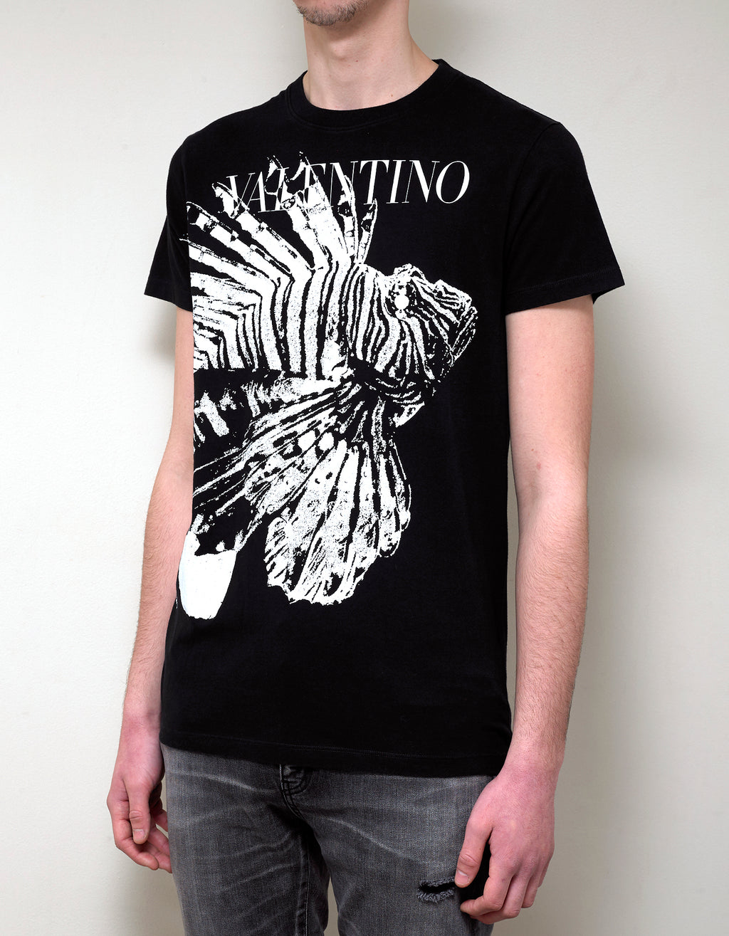 Black Lionfish Print T-Shirt