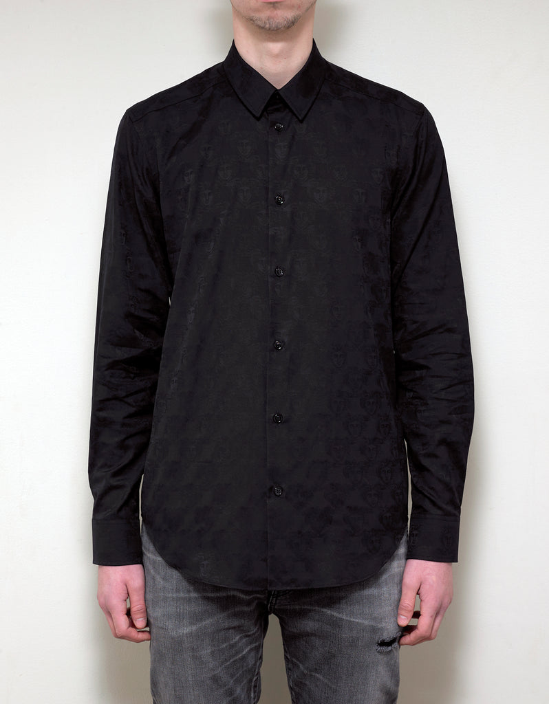 Black Medusa Embroidery Shirt