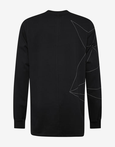 Rick Owens Black Sweatshirt with Embroidery