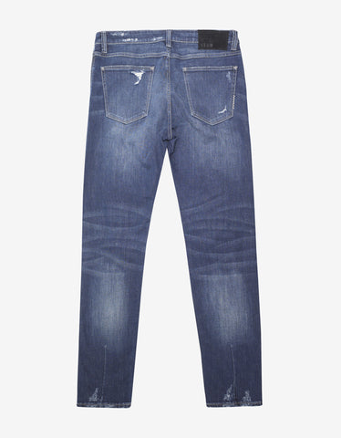 Neuw Iggy Skinny 'Foremost Damage' Distressed Jeans
