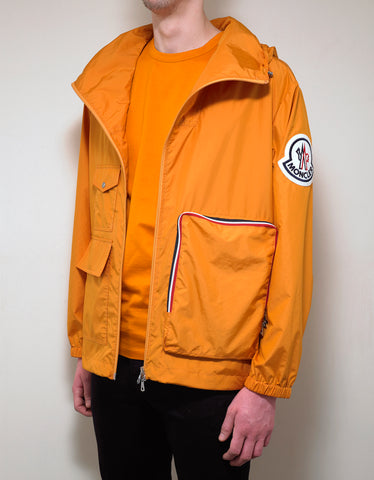 2 Moncler 1952 Flanquart Orange Rip-Stop Nylon Jacket