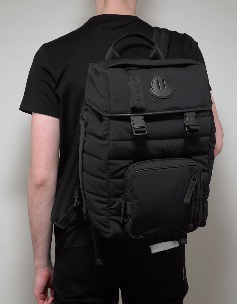 Chute Black Quilted Backpack