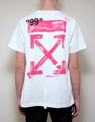 Off-White White Stencil Arrows Print T-Shirt