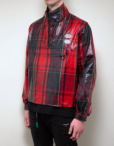 Off-White Red Check Arrows Print Anorak