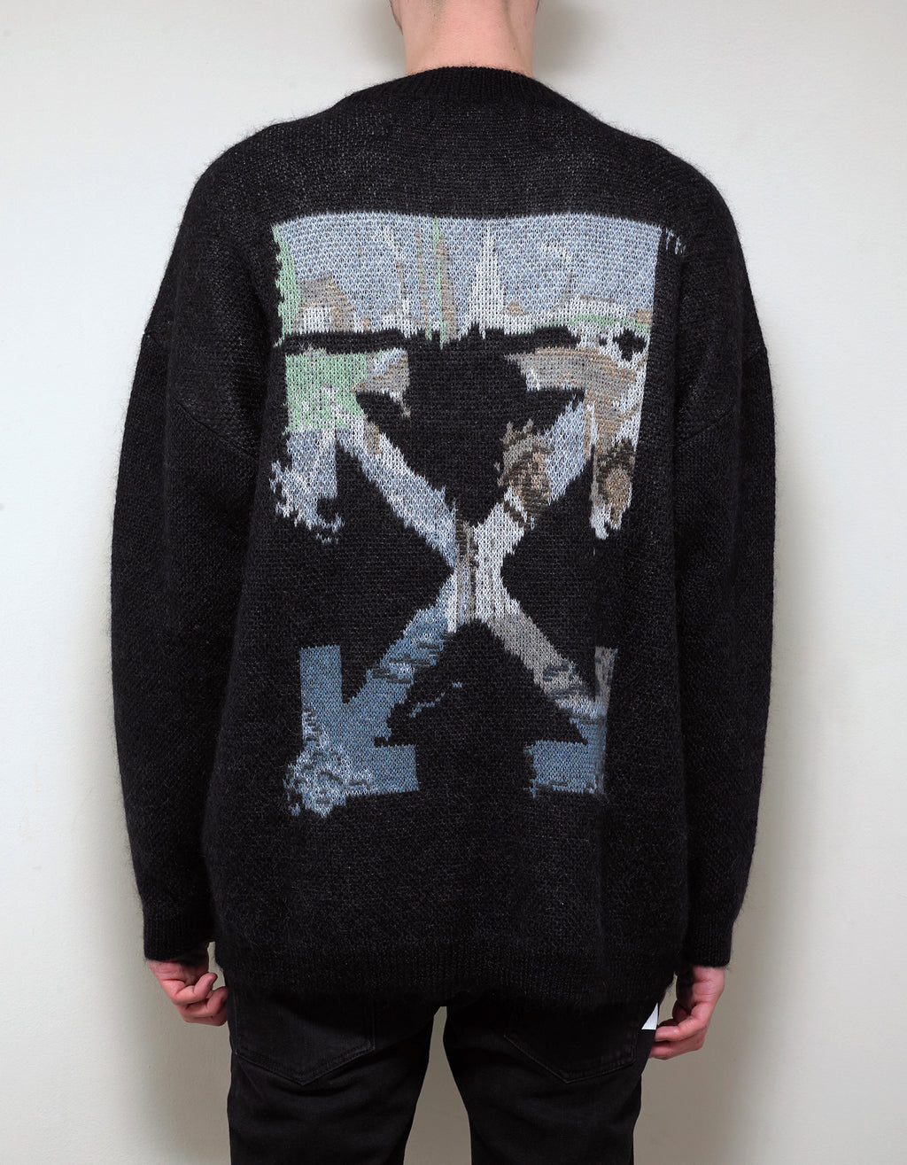 Black Multicolour Arrows Mohair Sweater