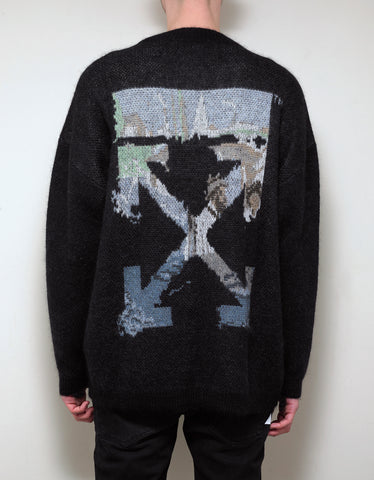 Off-White Black Multicolour Arrows Mohair Sweater