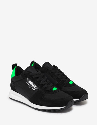 Dsquared2 Black DSQ2 Logo Trainers