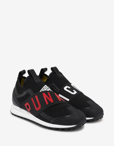 Dsquared2 Black Punk Icon Trainers