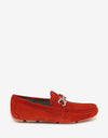Red Parigi Suede Leather Driving Shoes