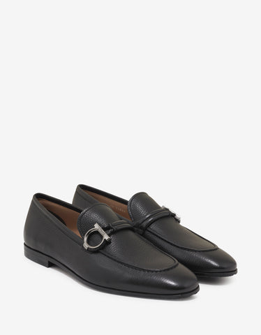 Salvatore Ferragamo Black Grain Leather America Calf Loafers