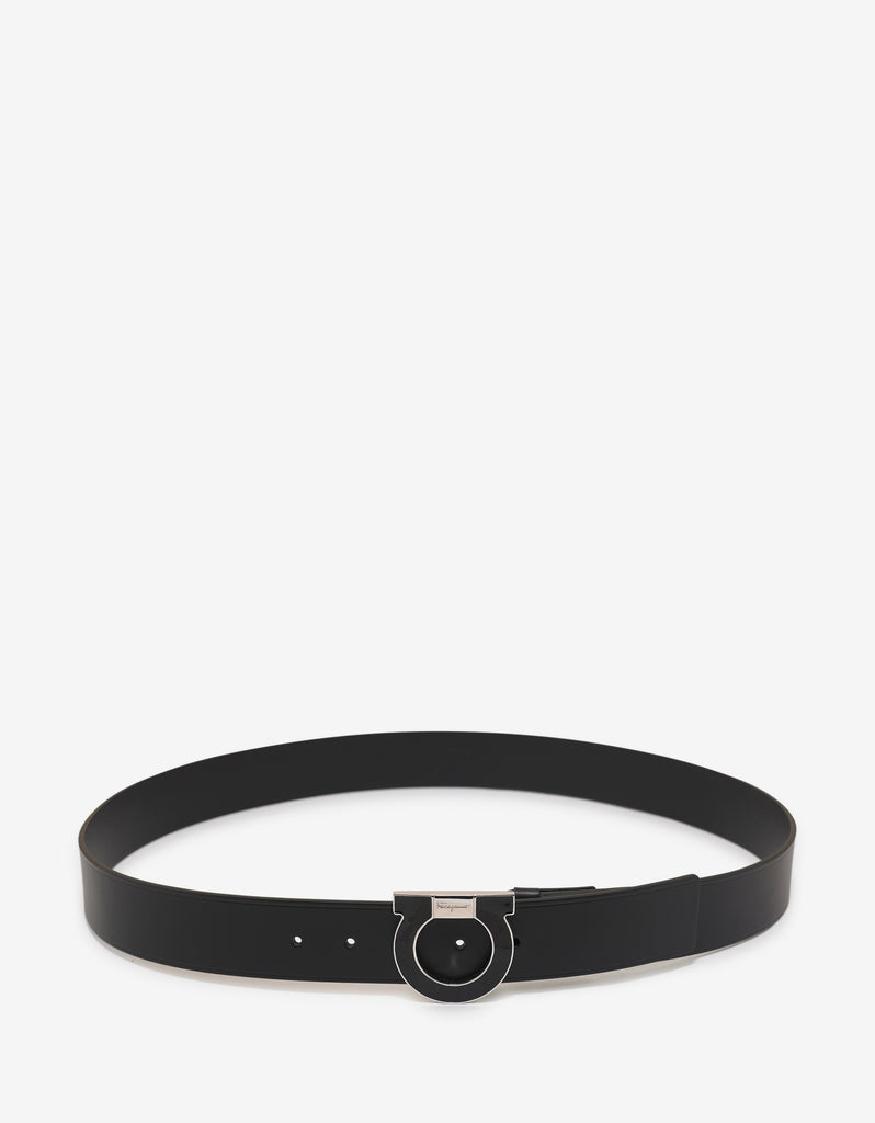 Black & Silver Gancini Belt