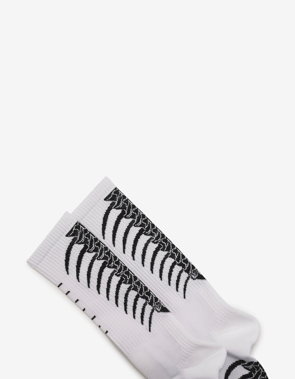 White Backbone Intarsia Socks