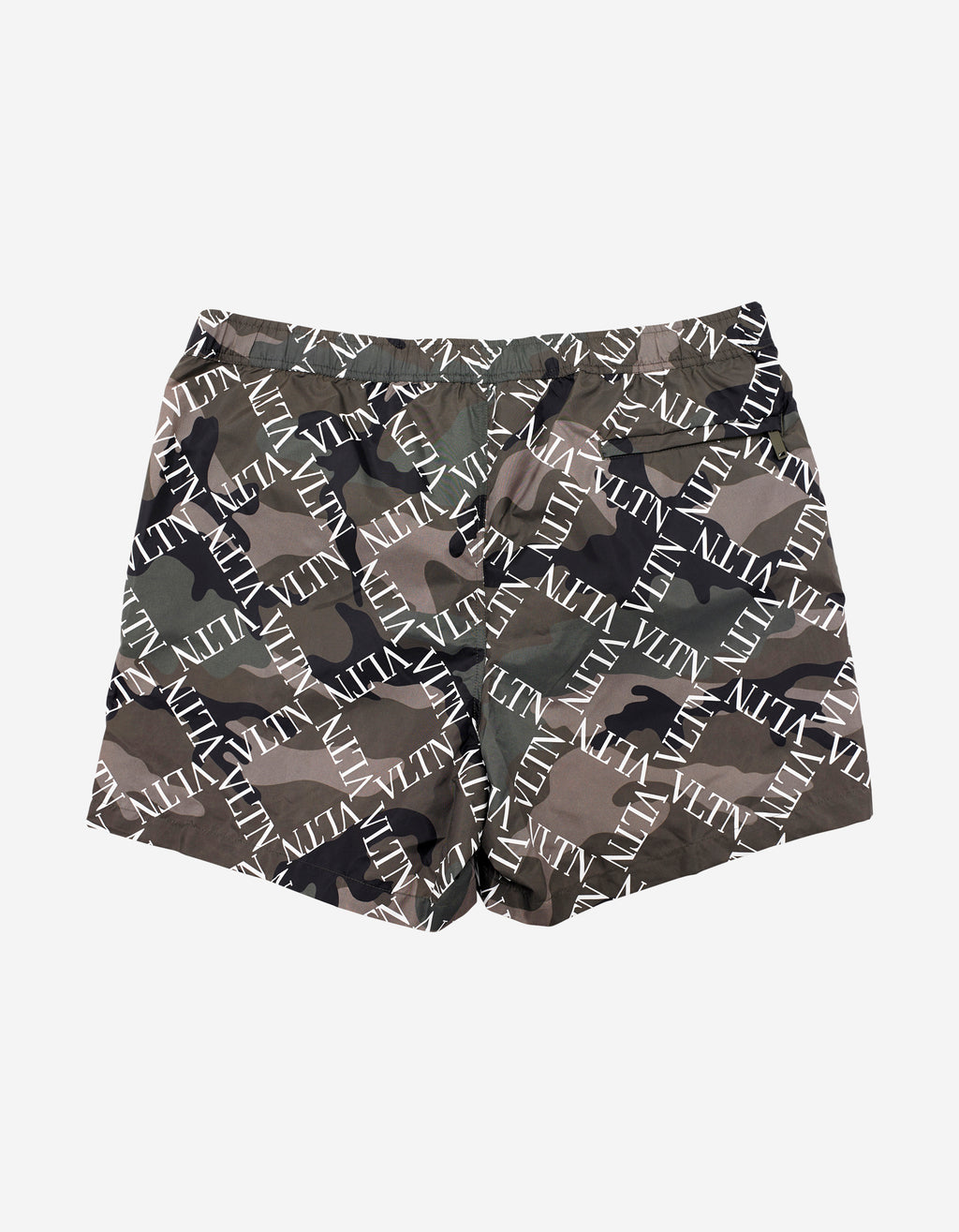 Green Camouflage VLTN Grid Swim Shorts