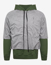 Grey & Green Dual Layer Hoodie
