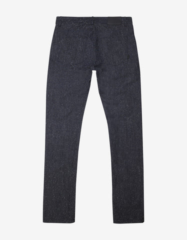 Balenciaga Blue Slub Cotton Denim Jeans