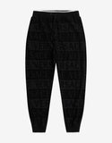 Black Towelling Logo Sweat Pants